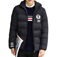 Мужская одежда Зимняя куртка с толстостенной вышивкой Теплые пальто Мужчины Твердые зимние пальто Мужчины Повседневная теплая куртка 4XL