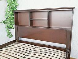 """Двуспальная кровать с полками в изголовье из массива дерева """"Комби"""" от производителя, фото 3"""