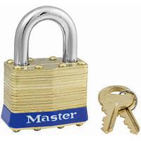 Навесной латунный замок Master Lock  4-контактный стопорный механизм, фото 1