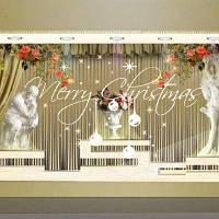 DSU Chrismas Виниловые съемные наклейки для 3D-наклейки Рождественские наклейки из снега 44x74 см
