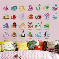 6221 Детские наклейки стены наклейки головоломки образовательные обучения животных английские буквы 70 х 45 см