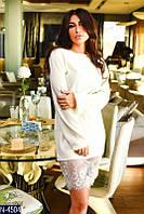Платье  (42-44, 44-46) — ангора французкое кружево купить оптом и в розницу в одессе  7км