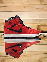 Мужские кроссовки Nike Air Jordan Retro красные топ реплика, фото 3