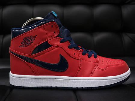 Мужские кроссовки Nike Air Jordan Retro красные топ реплика, фото 2
