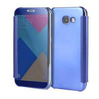 Роскошное прозрачное зеркальное покрытие Flip Ultra Thin Cover Case для Samsung Galaxy A5 2017 Фиолетовый