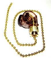 Выключатель бра на цепочке золото