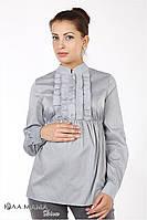 """Изысканная блузка для беременных из меланжевой блузочной ткани """"Michele"""", серый меланж"""