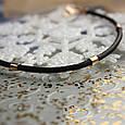 Кожаный браслет с золотыми вставками, фото 2