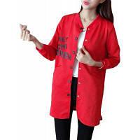 Женская Плюс Размер Бомбардировочная куртка Письмо Печать С длинным рукавом Тонкий куртка бомбардировщика M