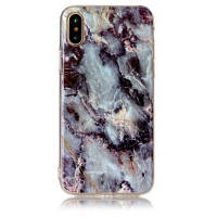 Marble Series Slim-fit Anti-scratch ShockProof Dust Proof Anti-finger Print TPU Gel Чехол для iPhone X Синий