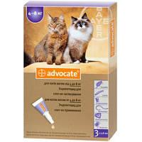 Адвокат для котов 4-8 кг от блох и клещей, цена за 1 пипетку