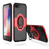 С амортизатором Dual Cover Design Держатель для телефона с защитой от царапин для iPhone7 Plus / 8 Plus Красный