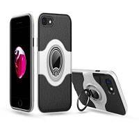 Амортизатор с двойной крышкой Дизайн Кольцо для телефона с защитой от царапин Защитный чехол для iPhone 7/8 Серебристый
