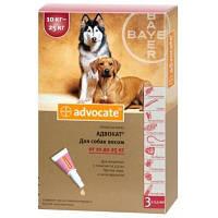 Адвокат для собак 10-25 кг от блох и клещей, цена за 1 пипетку
