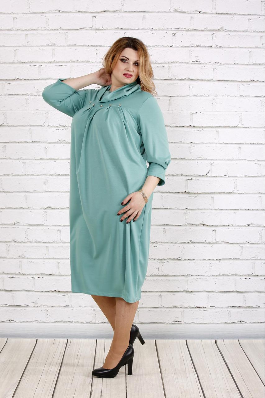 80143a50fae1 Платье мешок для полных женщин 0744 шалфей