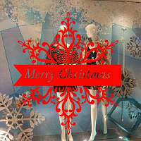 DSU Рождественские наклейки на стенах Оконные стекла Фестивали наклейки Фрески Рождественские украшения 43x78cм