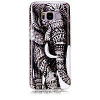 Слон-шаблон Мягкий чехол с защитой от царапин TPU для Samsung Galaxy S8 Серый