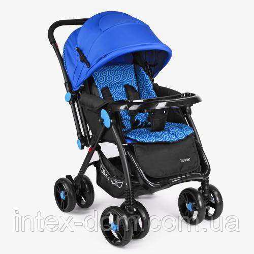 Детская прогулочная коляска Bambi Синяя (M 3655-4)