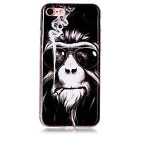 Планка обезьяны Мягкий чехол с защитой от царапин TPU для iPhone 6 Чёрный