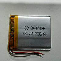 АККУМУЛЯТОР ДЛЯ GPS НАВИГАТОРОВ LI-POL 343743 3.7V 700mah