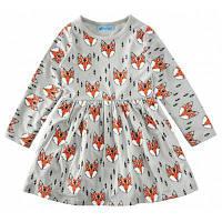 SOSOCOER платье девушка Лисичка с длинным рукавом Детская одежда 90