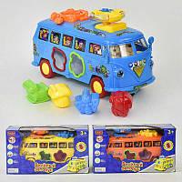 Автобус ZYA-A 0201 (48) сортер, муз,свет, на бат-ке, 3 цвета