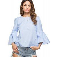 Женская мода круглая шея вышитый бисером спикер рубашка хлопок льняная рубашка XL