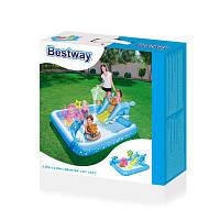 """53052 BW Игровой бассейн """"Аквариум"""" 239х206х86 см, 308 л, с брызгалкой и принадлежностями для игр."""