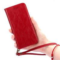 Для oFhone7 Plus масляная восковая зерновая кожа с двойным фланцевым автоматическим всасывающим корпусом для защиты мобильного телефона Красный