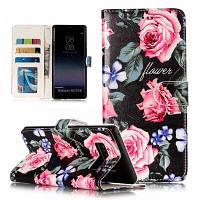 Вышитые Vintage Pattern кожаный чехол чехол для Samsung Galaxy Note 8 Разноцветный