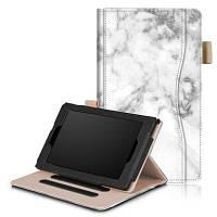 Чехол с подставкой и функцией автоматического сна / пробуждения для Kindle Fire 7-дюймового планшета 2017/2015 Белый