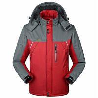 Плюс Velvet Мягкий теплый большой размер Водонепроницаемая куртка Наружная Мужская и женская зимняя одежда XL
