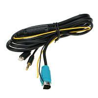 YKT-AB054 Вспомогательный аудио кабель для автомобиля / домашнего стерео Чёрный