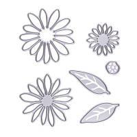 6pcs Цветы Металлические режущие головки для DIY Scrapbooking Фотоальбом Декоративный тиснение Folde Серебристый