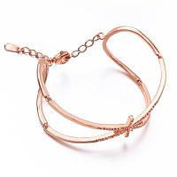 Новый продукт Рекомендуем Zircon Rose Gold Plated Fashion Classic Style Bangle Розовый золотой