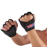 Shou Xin SX670 спортивные перчатки на половину пальца для велоспорта для фитнеса (пара) Чёрный