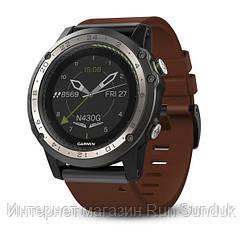 Смарт-часы Garmin D2 Charlie титановый безель с кожаным и силиконовым ремешком