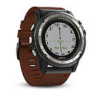 Garmin D2 Charlie Titanium Bezel with Leather and Silicone Bands, фото 3