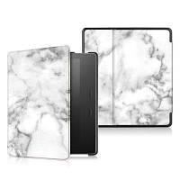 Жесткая крышка кожаная для Kindle Oasis 7 дюймов с функцией автоматического сна / пробуждения Белый