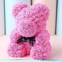 Свадебная вечеринка Украшение День Святого Валентина Подарок Искусственные розы Медведь Розовый