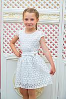 """Детское нарядное платье """"Розалина"""" белое р. 110-128"""