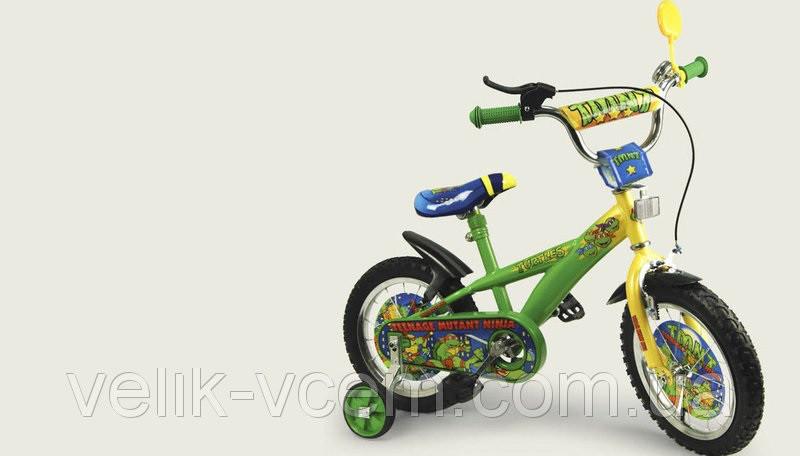 """Детский двухколесный велосипед 16"""" 141603 """"Turtles"""""""