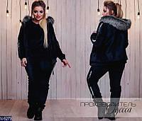 Спортивный костюм 3-ка (48-50, 52-54, 56, 58-60, 62-64, 66-68) — велюр