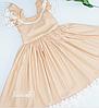 Детское платье  -  Хлопок с кружевом