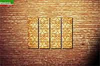 Модульная картина узор золото