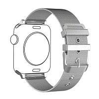 Миланская петля из нержавеющей стали Браслет ремешок для Apple Watch Series 3/2/1 Серебристый