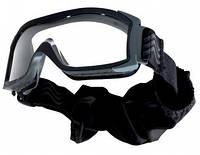 Очки тактические Bolle X1000 черные, с прозрачными линзами