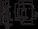 Замок врізний BORDER ЗВ4-3/85М.В26.У2 міжцентрова відстань 85мм, фото 2