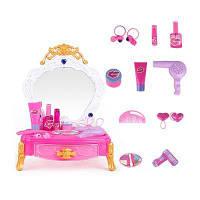 Макияж Туалетный столик Игрушка для маленькой девочки Розовый
