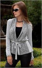 Кардиган женский вязаный перед Mikos 0588, кофта, свитер
